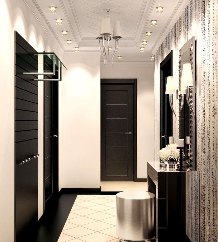 Шикарный туалетный столик с пуфиком — нужная вещь в коридоре
