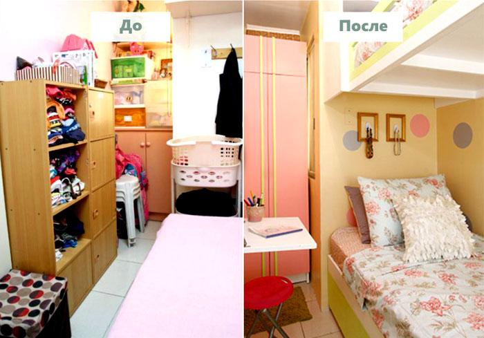 Небольшая спальня для девочки в современном дизайне