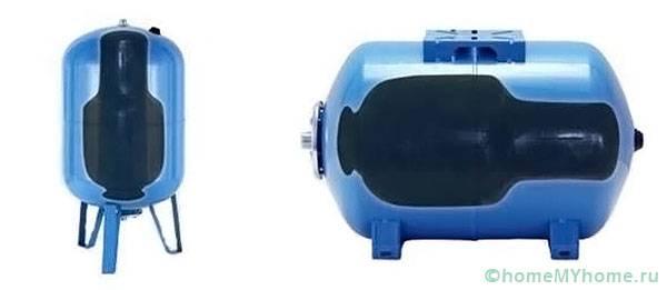 Аккумулятор давления в разрезе
