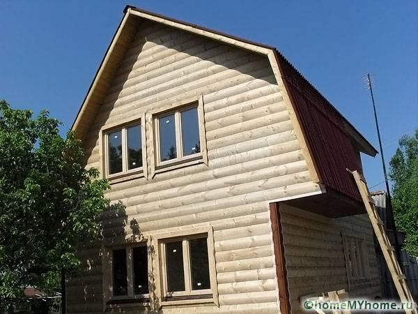 Дом из непрофилированной древесины