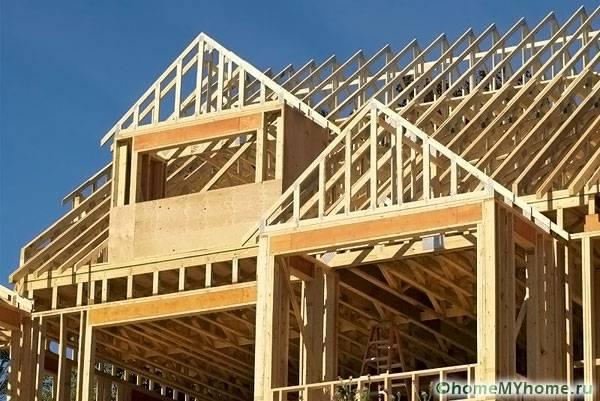 Вид конструкции при строительных работах