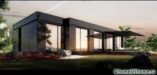 Из модулей выполняются современные и стильные дома