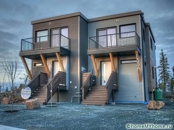 Модульный дом может выполняться в несколько этажей