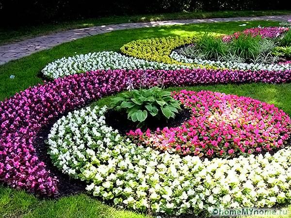 Внешний вид цветника