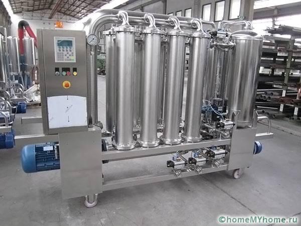 Последовательное соединение фильтров в промышленной установке