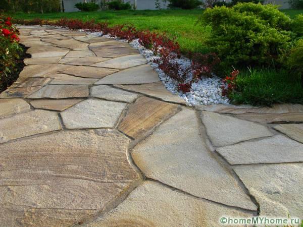 Мощение из натурального камня
