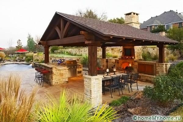 Летняя кухня на даче. Проекты, фото