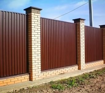Забор из профлиста своими руками: фото