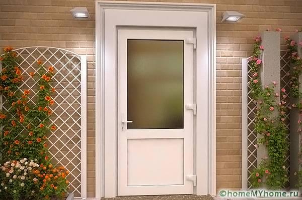 пластиковые входные двери для частного дома: фото