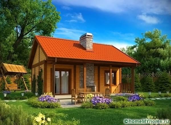 Проекты дачных домиков для 6 соток: фото