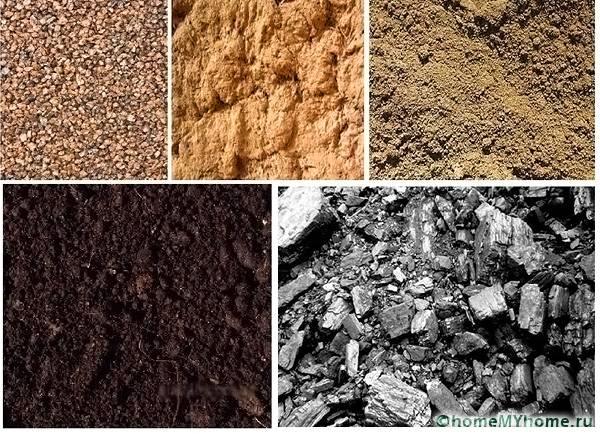 Различные виды грунта