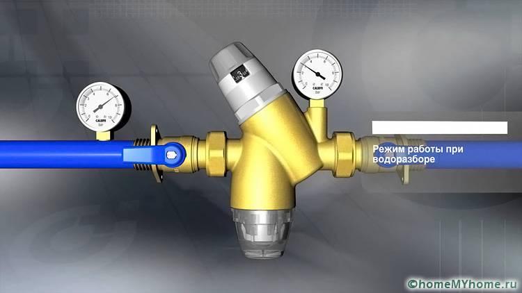 Специальная регулировочная головка позволяет выставить нужную величину давления