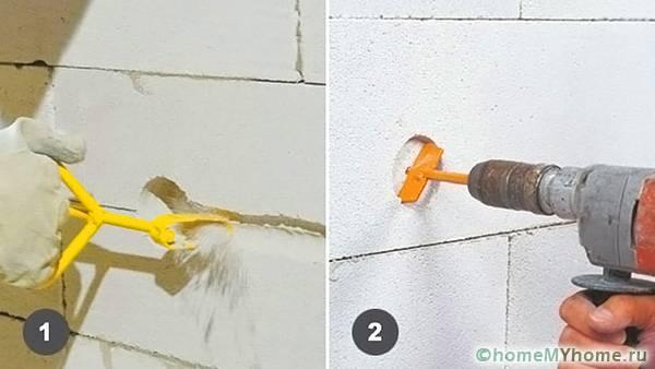 Штробление в блоках под проводку и подрозетники