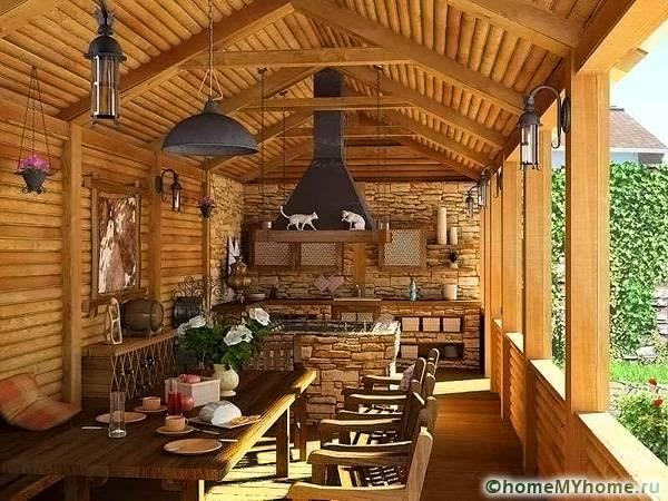Строение в деревенском стиле