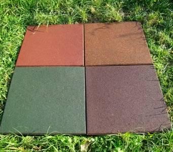 Резиновая плитка для дорожек на даче: цена
