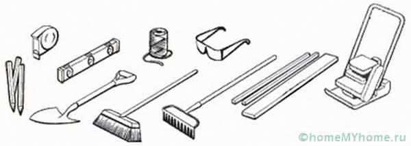 Инструменты, которые используются в процессе