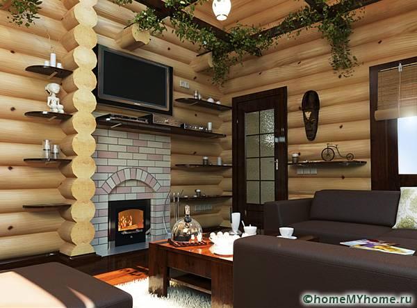 Комнату отдыха можно отделать различными материалами и при этом выбрать необычный дизайн