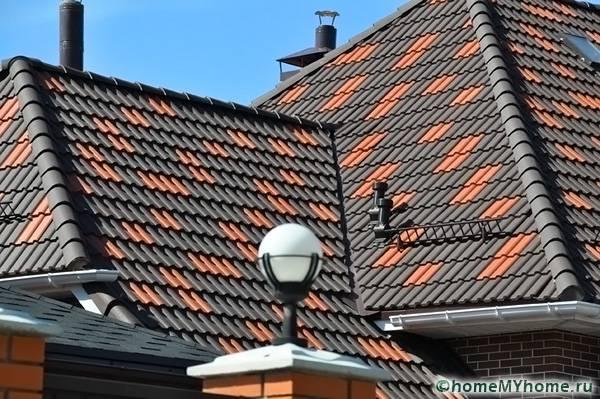 Крыша из данного материала отличается высокими эстетическими качествами