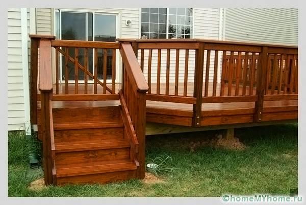 Пристройка из древесины может иметь большие размеры