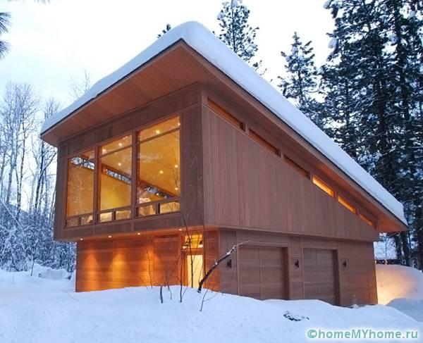 Односкатные крыши используются для создания интересных и функциональных проектов