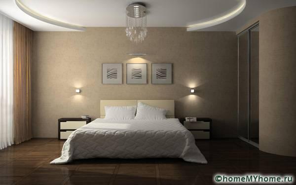 Двухуровневые потолки из гипсокартона: фото