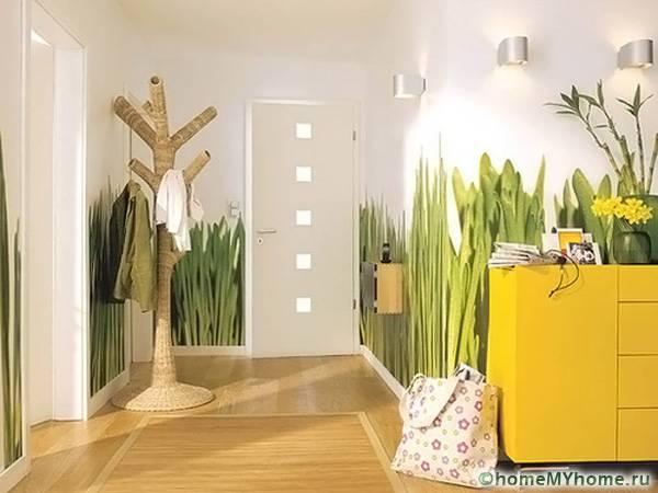 При выборе необычных обоев, нужно учитывать общее оформление помещения и декор