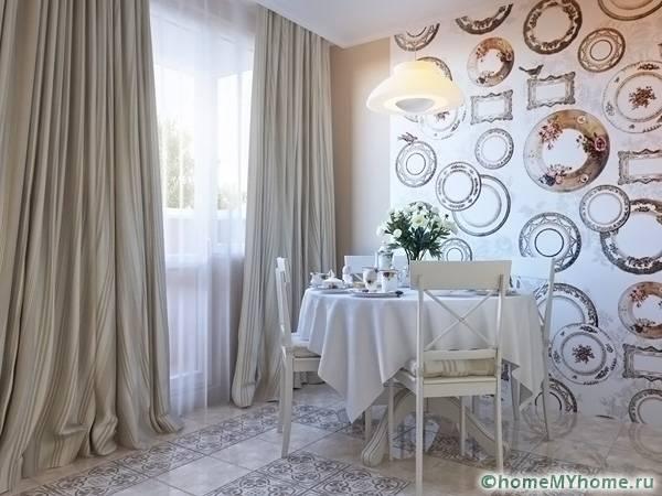 Качественные покрытия для стен благодаря вариациям дизайна впишутся в интерьер любой кухни
