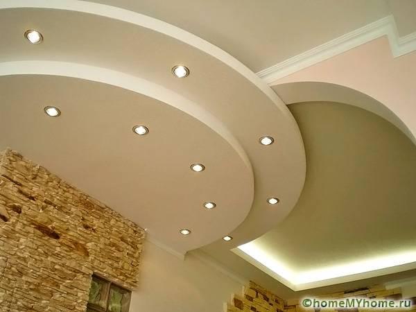 Подвесной потолок – прекрасный вариант для разгула фантазии