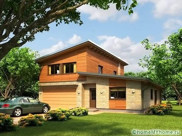 Проект с односкатной конструкцией может иметь несколько этажей