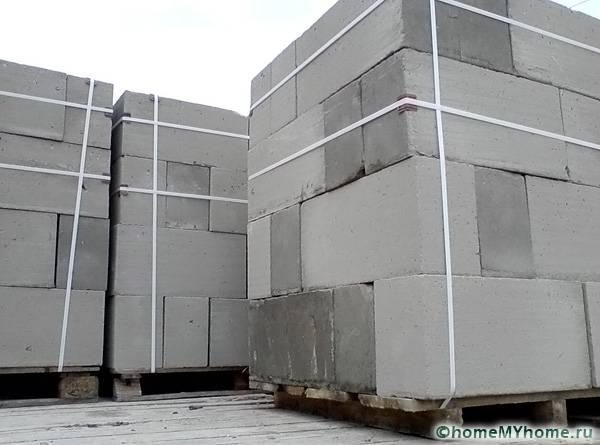 Газобетонные блоки на объекте