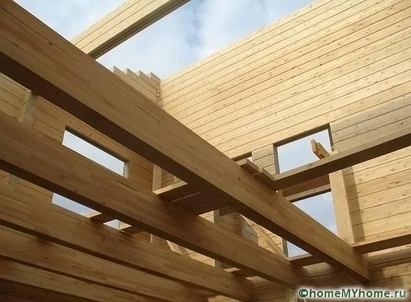 Щитовой дом с деревянным перекрытием