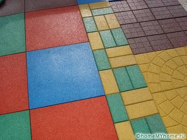 Разнообразие форм, размеров и цветов выгодно отличает этот тип покрытия