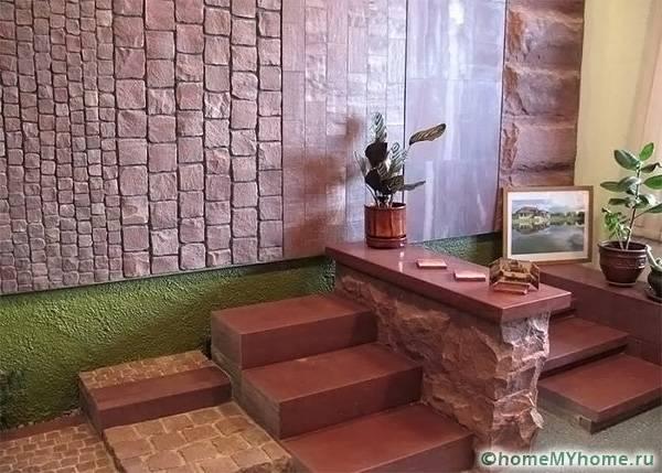 Булыжники обладают декоративностью и подходят для отделки интерьеров