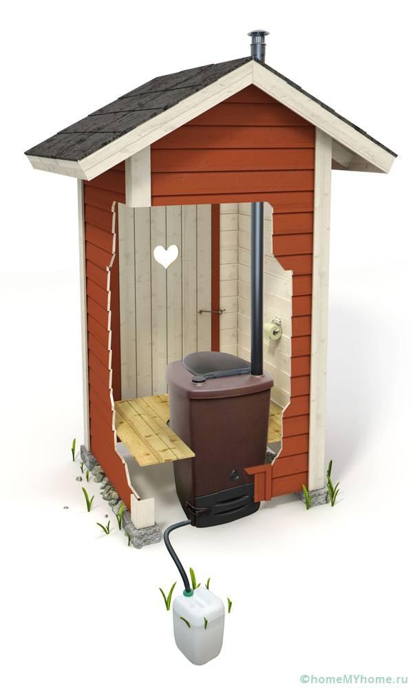 Пудр-туалет предоставляет возможность получать качественное удобрение для своего огорода