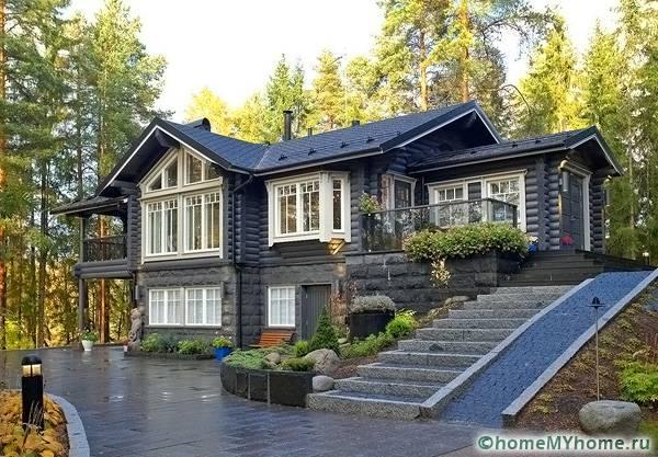 Стандартный финский дом в два этажа