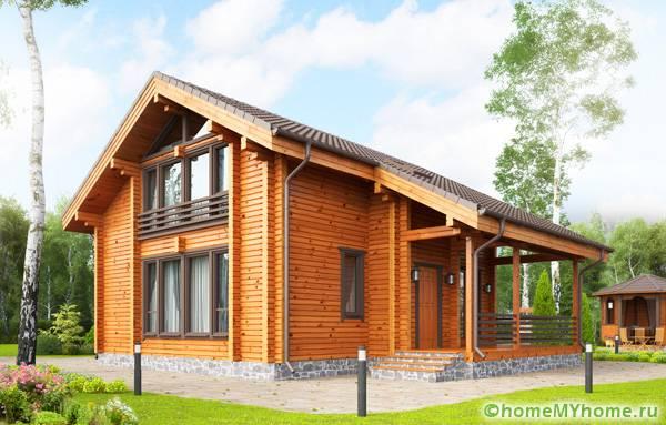 Дом из клееного бруса GOOD WOOD по проекту СП-180