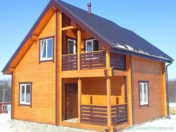 Дом из клееного бруса GOOD WOOD по проекту СП-110