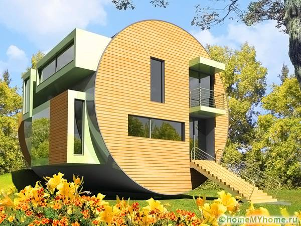 Двухэтажное жилище с особым дизайном