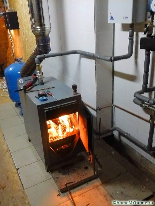 Дровяное отопление с естественной циркуляцией теплоносителя