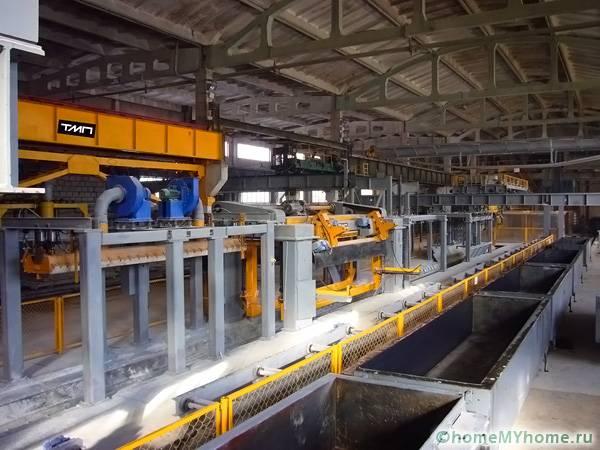 Производственное помещение для изготовления газоблоков
