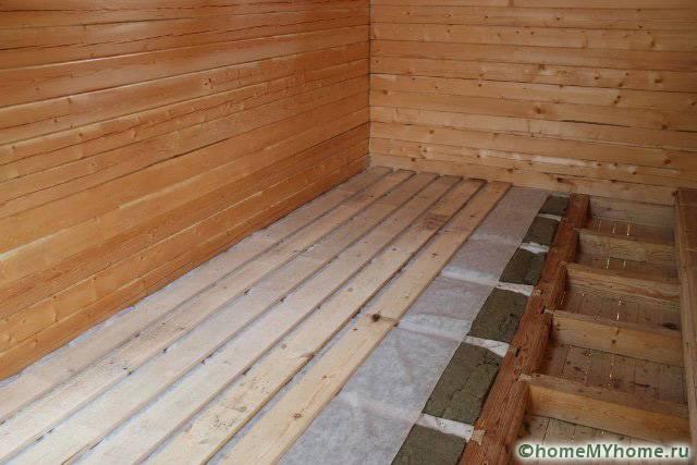 Настил деревянных чистовых полов