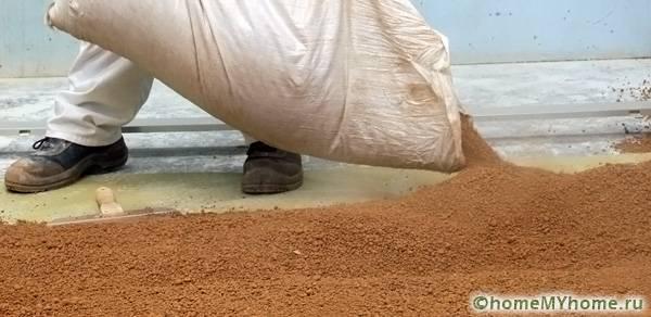 Керамзитовый состав проходит предварительную обработку