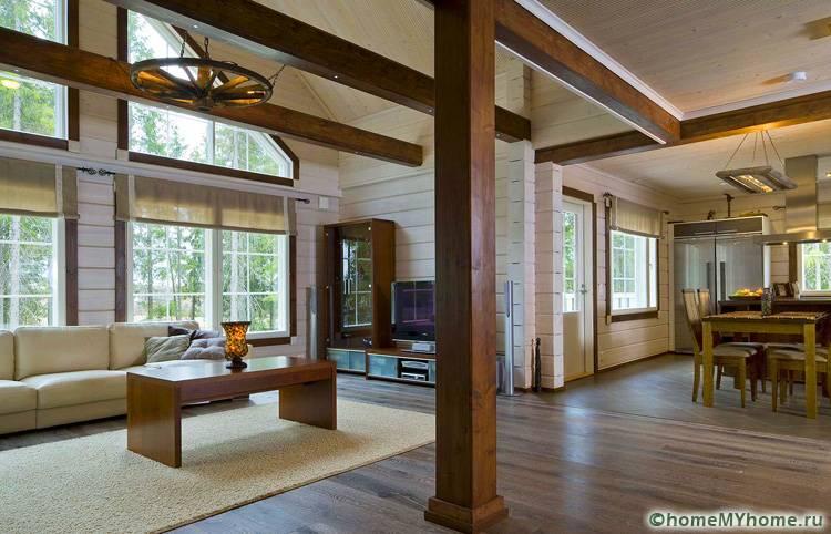Эргономичное соединение двух и более комнат позволяет создать воздушный интерьер с ощущением пространства
