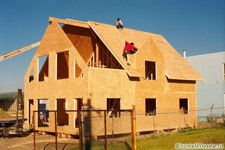Плиты ОСБ используются для строительства всего строения