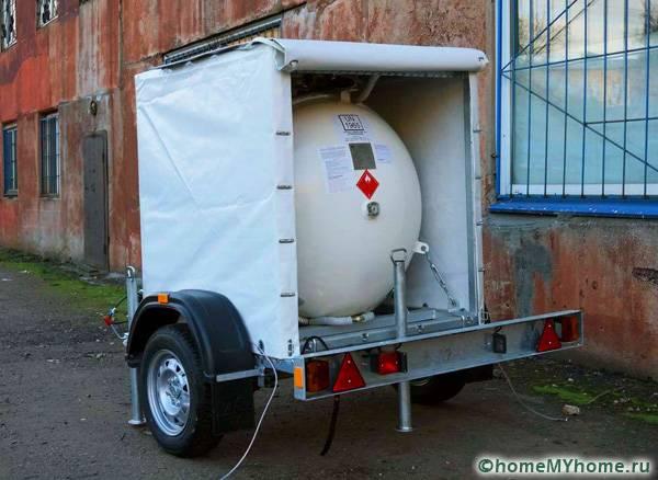 Передвижной газгольдер для организации автономной системы обогрева