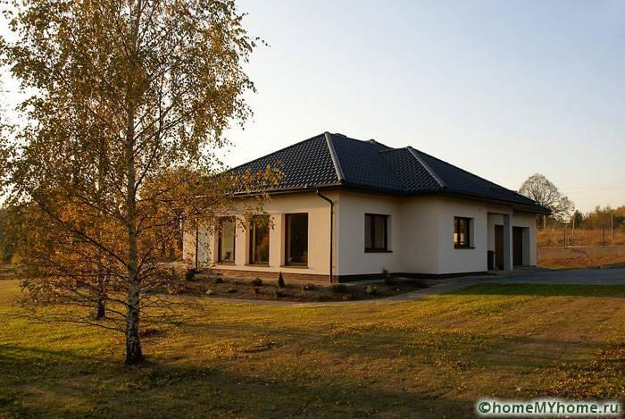 Проект квадратного дома 10 на 10 из газоблоков М142 | 469x700