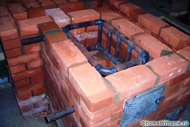 Печь с теплообменником для водяного отопления дома