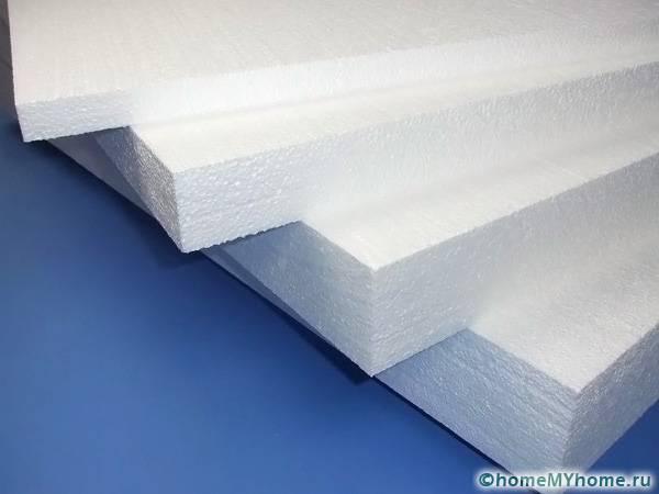 Пенопластовые панели обладают максимальной защитой от влаги