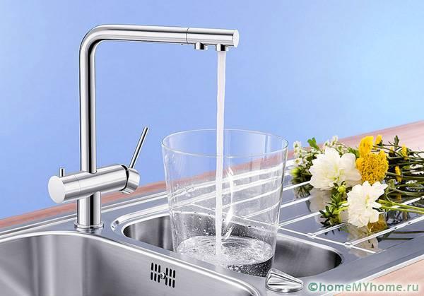 Для потока очищенной воды не требуется дополнительного места