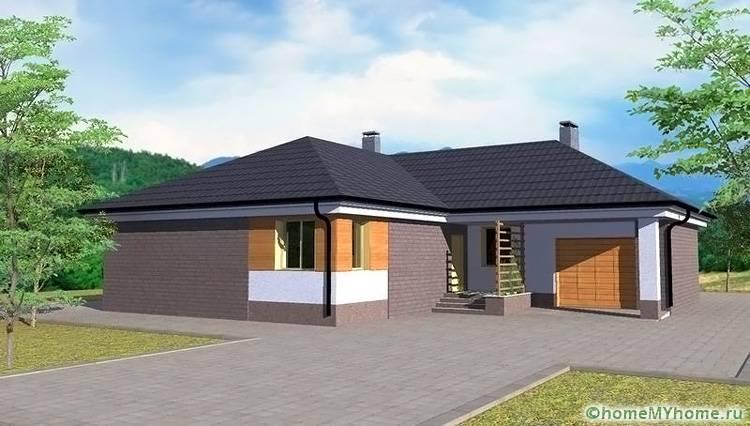Если участок не слишком большой, то к основному зданию можно пристроить не только котельную и веранду, но и просторный гараж